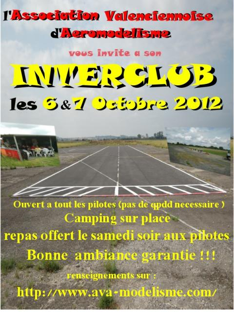 affiche interclub 6et7 octobre